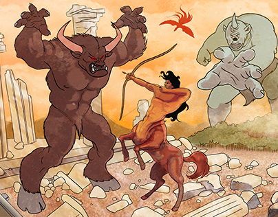Greek Battle Illustration