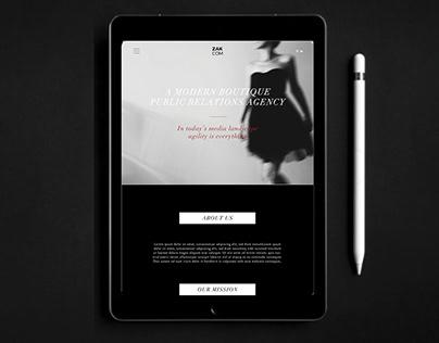 Zak Communication website design