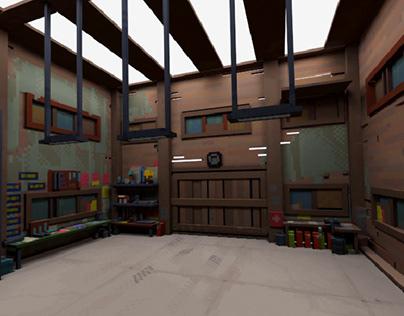 Wooden Garage (voxel)