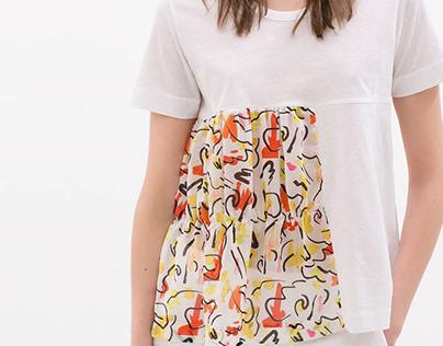 Printed Furrowed T-shirt