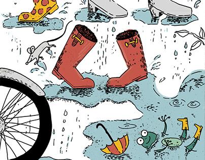 Happy feet | Ciągle pada