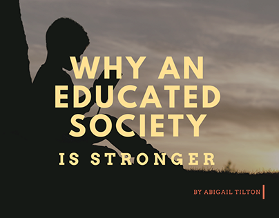 Why An Educated Society Is Stronger