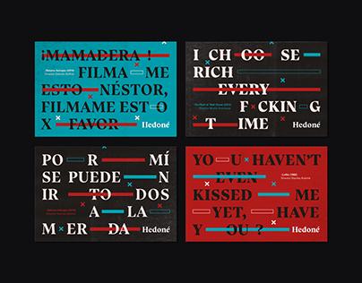 Hedoné, Festival de cine liberador | Branding