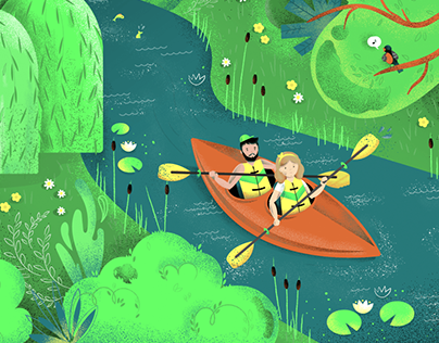 Sport themed illustrations