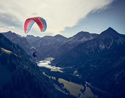 Paragliding + Jaguar i-Pace