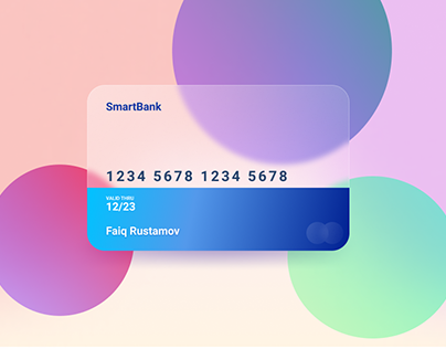 Glass-Morphism Credit Card Concept