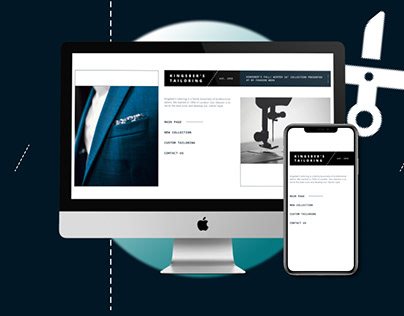 Tailors in London landing | UX/UI design