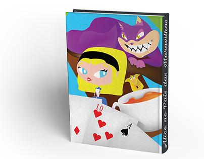 Redesign de capa do livro Alice No País Das Maravilhas