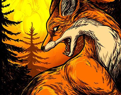The Fox · Aeonsclothing · T-shirt illustration