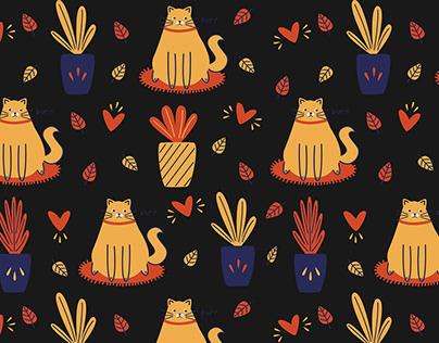 Autumn mood illustrations and patterns