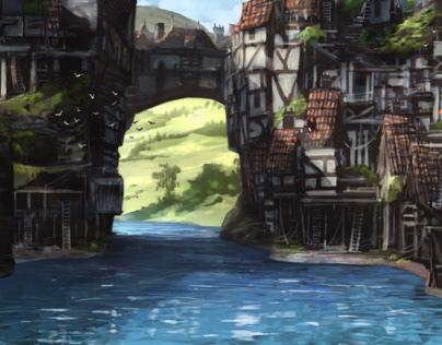 Bridge town concept