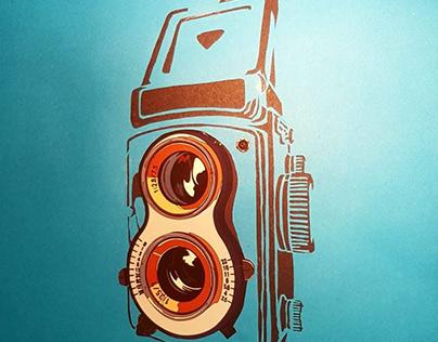 Rolleiflex Type 1 1966 + paper