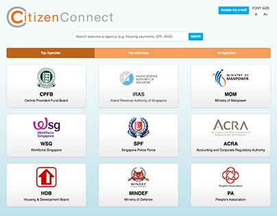 CitizenConnect Centre+ Web App