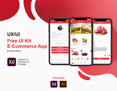 Free UI Kit with Animate E-Commerce Application