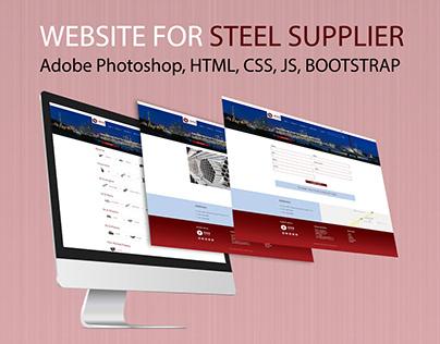 Website design & development for steel supplier.