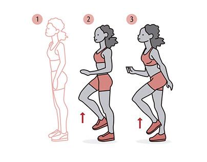 La ilustración al servicio del entrenamiento físico