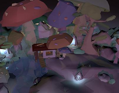 Mushroom Swamp 3D Environment