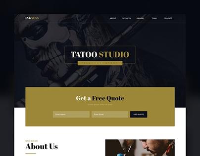 Разработка дизайна сайта TattoStudio