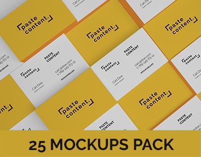 Business Cards Mock-ups Big Pack Vol. 1