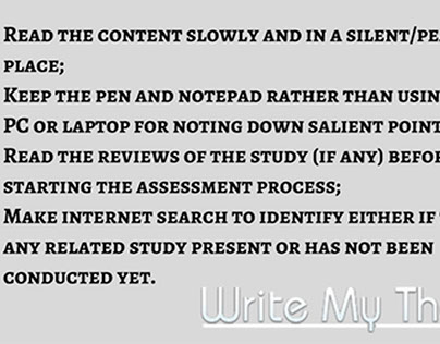 Thesis Critique Writing Tips