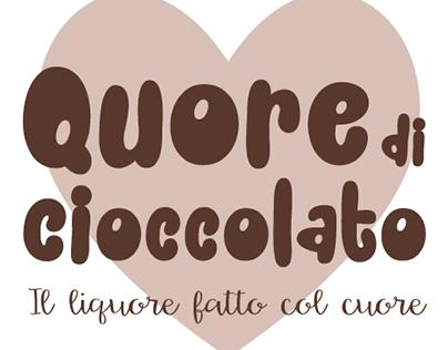 Quore di cioccolato - Liquor label