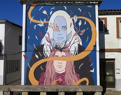 """""""A SENDA"""" Mural para Muro Crítico"""