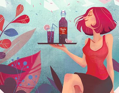 Illustration Moutain Cola