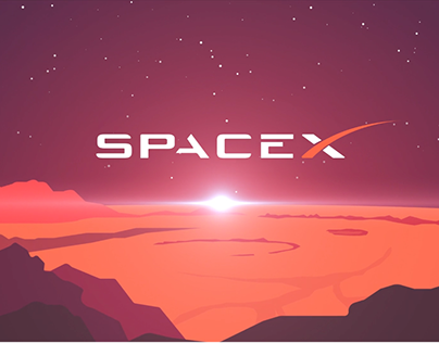 Animation de logo - SpaceX