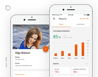 BINO CX. iOS App - Dashboard & Reports