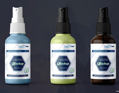 Spray Mist Bottle Mock-up