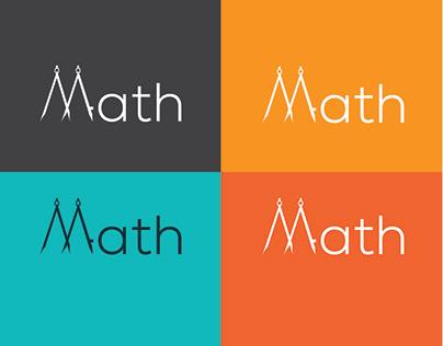 Modern math logo design
