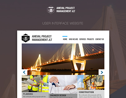 Ameval Website User Interface