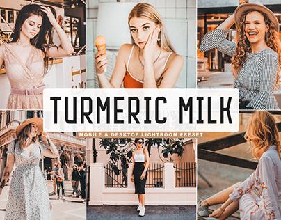 Free Turmeric Milk Mobile & Desktop Lightroom Preset