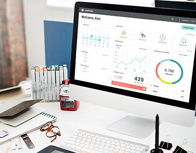 Digital Marketing Dashboard Concept