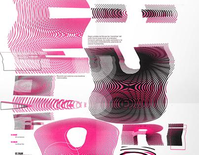 Desplegable tipográfico / Viaje