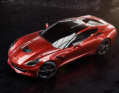 Full CGI Corvette Stingray
