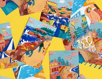Bondi Beach Postcard Series