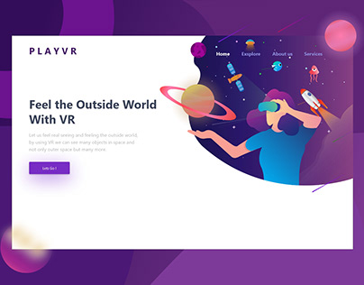 VR Player Header Illustration