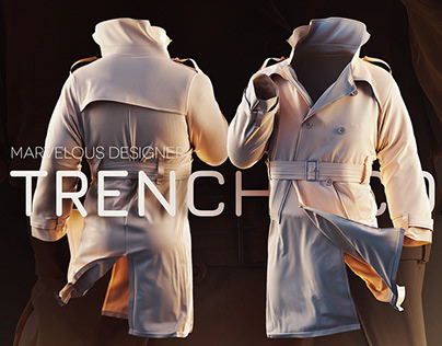 Marvelous Designer: Create a 3d Trench coat