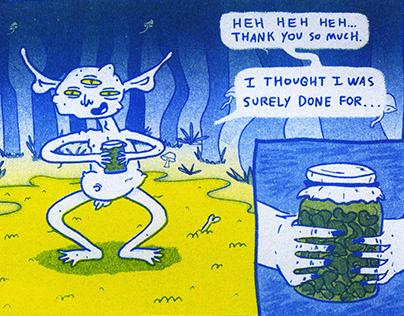 Riso Print Comic Page