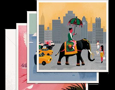 Illustrations for Arlo Skye, New York
