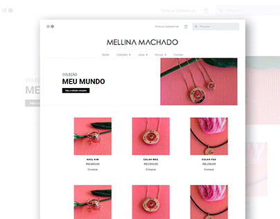 Loja Virtual - Mellina Machado