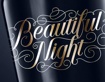 Beautiful Night, Typography & Lettering