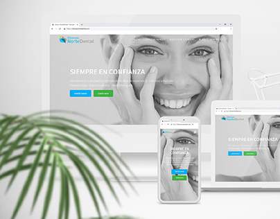 UI/UX Diseño web responsive for Dental Clinc