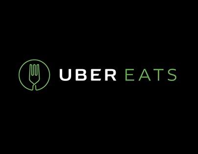 Uber Eats - Affiche Typographique