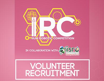 IIUM Robotic Competition 2018 Recruitment Poster