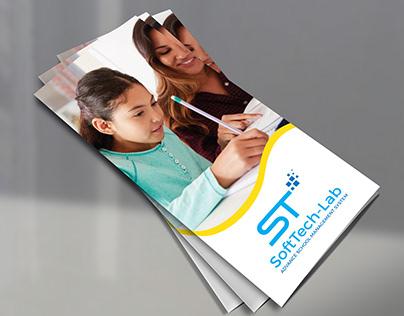 Child education trifold brochure design