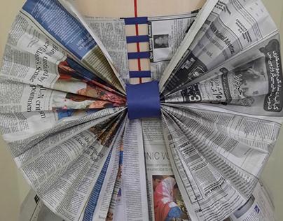 Newspaper draping