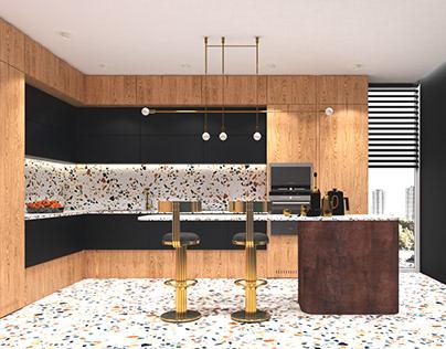 Terazzo kitchen project - concept no 1