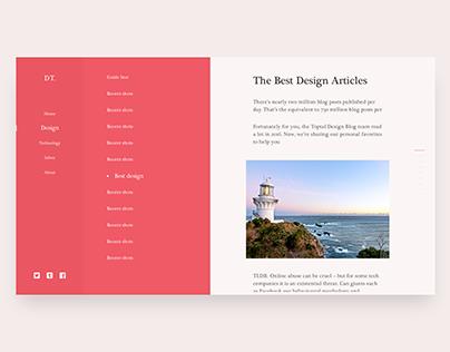 Personal Blog - Website System Design
